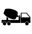 Cement mixers truck the black color icon vector image