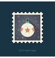 Christmas balls flat stamp vector image vector image