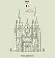 church of saint-nizier in lyon vector image vector image