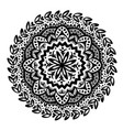 circle flower mandala hand drawn ornamental round vector image