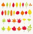 colorful autumn leaves set vector image vector image