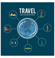 colourful travel travel and tourism background vector image