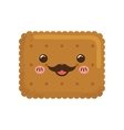 cookie kawaii dessert cute sweet food icon vector image vector image