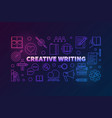 creative writing outline colored horizontal vector image vector image