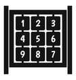Cubes with numbers on playground icon simple style vector image vector image