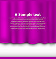curtain of purple color vector image vector image