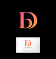 d b letters monogram web ui icon identity vector image vector image