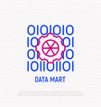 data mart thin line icon vector image vector image