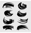 different forms textured brushstrokes set black vector image