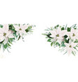 elegant festive winter season floral site banner vector image