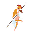 female warrior greek goddess amazon or gladiator vector image