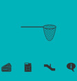 fishing net icon flat vector image