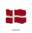 flag denmark vector image vector image