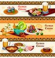german cuisine restaurant or pub menu banner set vector image vector image