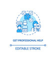 get professional help concept icon vector image vector image