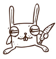 Hand Drawn Scheming Bunny vector image vector image