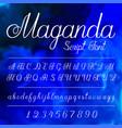 hand written alfabet vector image vector image