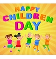 happy childrens day vector image vector image