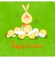 happy easter cute easter bunny vector image vector image