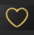 heart shaped lights isolated on transparent vector image vector image