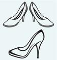 High heel shoes vector image vector image