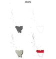 Jakarta blank outline map set