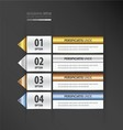 label design gold bronze silver blue color vector image vector image