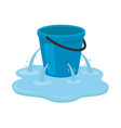 leaking bucket isolated on vector image vector image