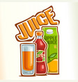 logo for juice vector image vector image
