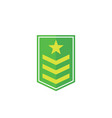 military rank army epaulettes icon on white vector image
