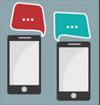 mobile phone communication abstract background vector image vector image