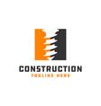modern building construction logo vector image vector image