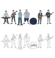 Musician Band vector image vector image