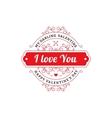 My Darling Valentine emblem vector image vector image
