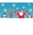 New year card for holiday design with Santa Claus vector image vector image
