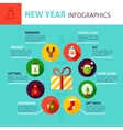 New Year Concept Infographics vector image vector image