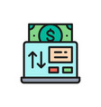 online payment mobile banking flat color vector image
