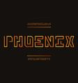 phoenix font alphabet vector image