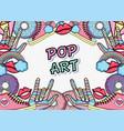 pop art background cartoons vector image vector image