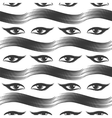 Seamless pattern with eyes and mascara vector image