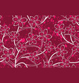 seamless pattern with floral tropical batik vector image vector image