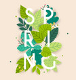 spring spring leafs on the background flat vector image vector image