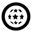 stars in shape of soccer ball icon black color in vector image vector image