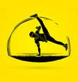 street dance dancer action graphic vector image vector image