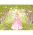 strolling princess in fantastic wood vector image vector image