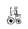 tractor sketch hand drawn agrimotor cartoon vector image vector image