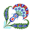 turkish ornament decor ceramic tile oriental vector image vector image