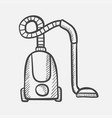 vacuum cleaner hand drawn sketch icon vector image