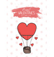 valentines day featuring flying balloon vector image vector image