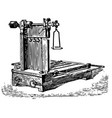 vintage engraving a mechanical weighing scale vector image vector image